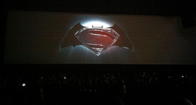 Batman Superman logo comic con 2013